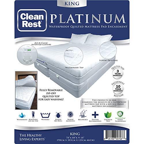 CleanRest Platinum Waterproof, Allergen Bed Bug Blocking Qui
