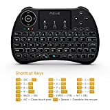 (2017 Backlit Version)REIIE H9+ Backlit Wireless Mini Handheld Remote Keyboard with Touchpad Work for PC,Raspberry Pi 2, Android TV Box ,KODI,Windows 7 8 10