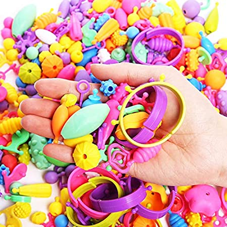 Pop Snap Beads Set DIY Jewelry Making Kits for Necklace Ring Bracelet Art Crafts Gift Toys for Kids Girls Chritsmas Gifts