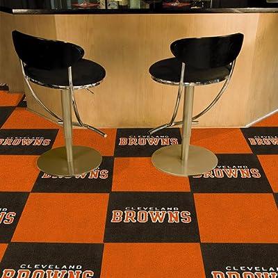 Fanmats Cleveland Browns Team Carpet Tiles