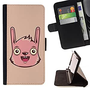 Jordan Colourful Shop - Cute Funny Pink Face For Apple Iphone 6 PLUS 5.5 - < Leather Case Absorci????n cubierta de la caja de alto impacto > -