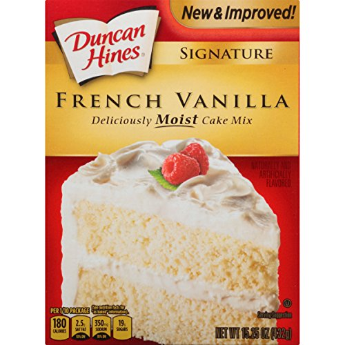 Duncan Hines Fudge - Duncan Hines Signature Cake Mix, French Vanilla, 15.25 Ounce