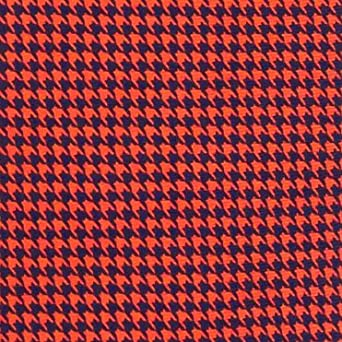 Handmade 7 Fold Silk Tie Houndstooth Design by Sebastien Grey