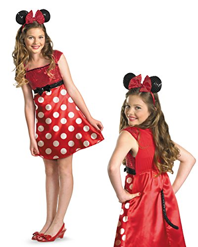 Mickey Mouse Woman Costumes (Disney Minnie Mouse Clubhouse Tween Costume, Red/White/Black, X-Large/14-16)