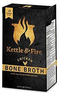 Kettle & Fire Chicken Bone Broth Organic Collagen-rich Bone Broth (1 Pack)