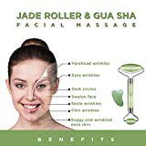 Jade Roller and Gua Sha Scraping Massage Tool