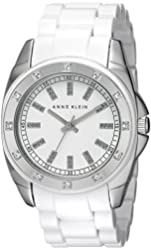 Anne Klein Women's 109179WTWT Stainless Steel Swarovski Crystal-Accented Watch