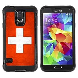 LASTONE PHONE CASE / Suave Silicona Caso Carcasa de Caucho Funda para Samsung Galaxy S5 SM-G900 / National Flag Nation Country Switzerland