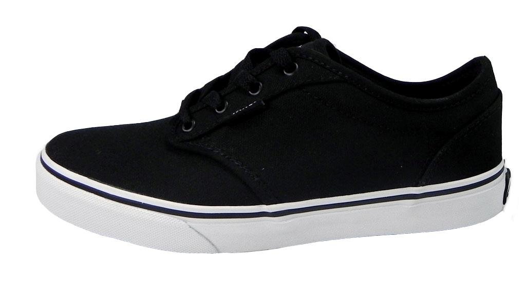5208ce88ba Galleon - Vans Kids Atwood (Canvas) Black White Skate Shoe 11.5 Kids US