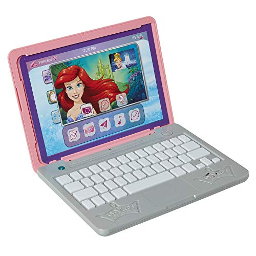 Disney Princess Girls Play Laptop Computer Style Collection Click & Go Play Laptop for Girls with Sounds & Light Up On…