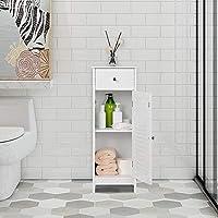 Yaheetech Mueble de Baño Armario Blanco con Puerta Cajón Mueble ...