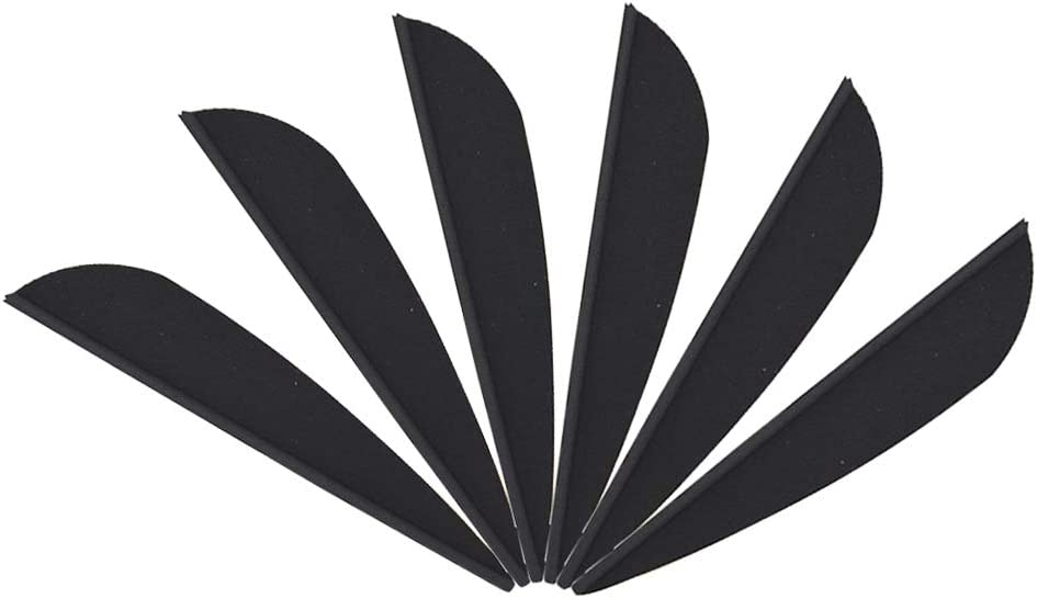 "100 2.5/""PCS Archery Arrow Plastic Feather Rubber Vanes Fletches Bow DIY Hunting"