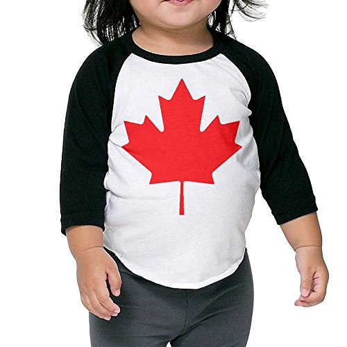 CANADA Maple Leaf Kid's Sleeve Raglan Clothes Unisex 2 Toddler - Bikinis Sport Canada