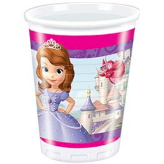 CAPRILO Lote de 24 Vasos de Infantiles Decorativos Princesa ...