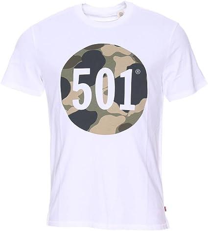 Camiseta Levis 501 Graphic Blanca XXL Blanco: Amazon.es ...