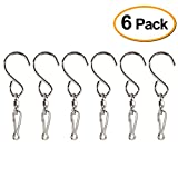 Kuuqa Swivel Hooks Clips for Hanging Wind Spinners Wind Chimes Crystal Twisters Party Supply(6 Pack)