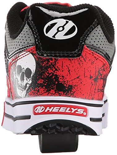 Heelys Motion Plus (770533) - Zapatillas para niños, color Red/Black/Grey/Skulls, talla 31 Red/Black/Grey/Skulls