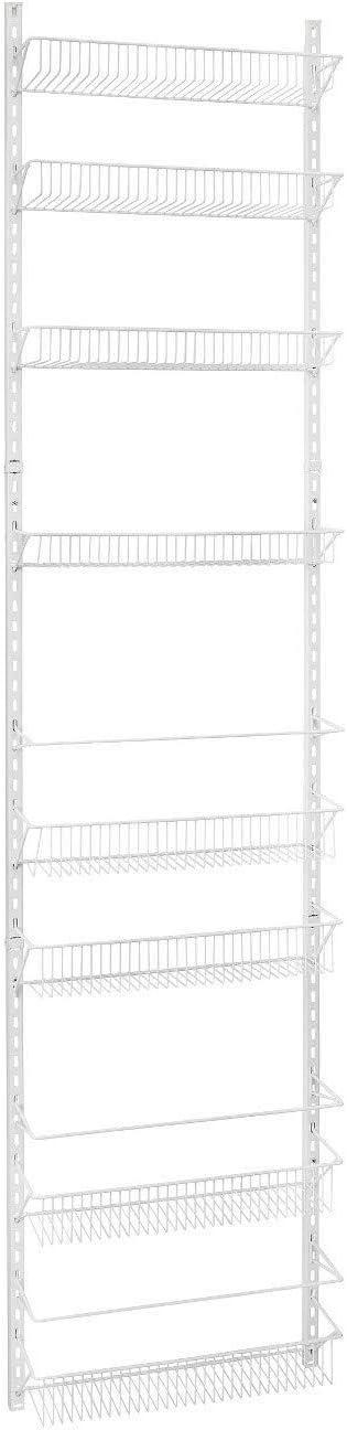 Jumbl 24 Wide Adjustable Door//Wall Mount Hanging Spice Storage Rack