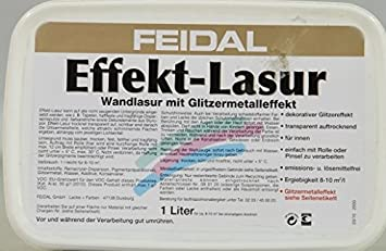 Feidal Effektlasur, Farbton Gold / 1 L / Für Innen Mit  Lichteinfallabhängigem Glitzereffekt Zur Dekorativen