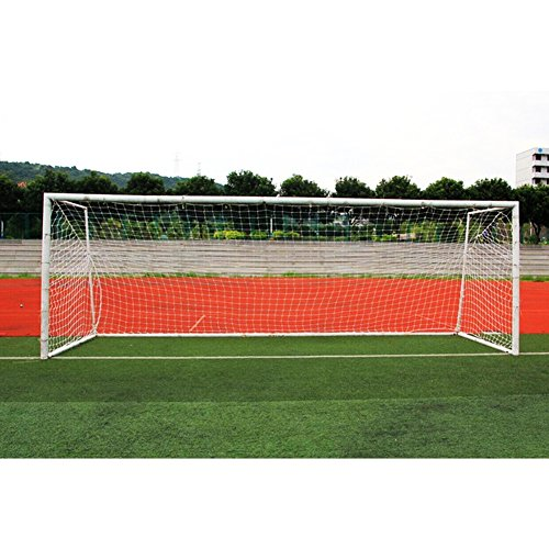 VGEBY Soccer Goal Net, Soccer Replacement Net Standard Size 10 x 7ft/18 x 7ft/24 x 8ft for Feild Match (Color : White, Size : 186.9ft- 7 People)