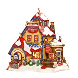Department 56 North Pole Village Reindeer Spa Lit Building