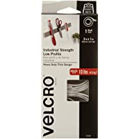 VELCRO Brand Industrial Strength - Low Profile | Superior Strength, 30% less Thickness than our Regular Industrial Strength Products | Size 3ft x 1in | Tape, White