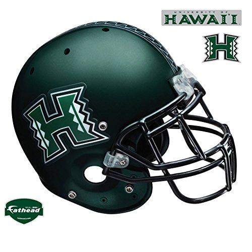 Fathead Hawaii Rainbow Warriors Helmet Wall Decal (Hawaii Helmet Warriors)