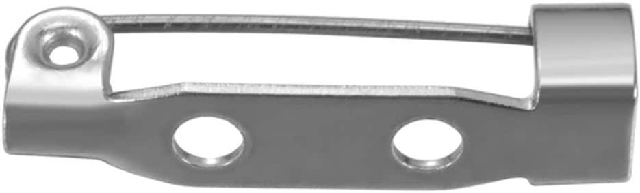 Silver Tone 3//4-Inch Beadaholique 24-Piece Bar Pin Back Glue On