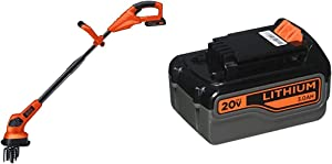 BLACK+DECKER 20V Cordless Garden Cultivator/Tiller with Extra Lithium Battery 3.0 Amp Hour (LGC120 & LB2X3020-OPE)