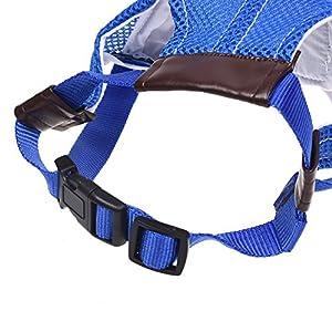 Kloud City Blue Adjustable Pet Dog Sport Baseball Outdoor Sun Protection Hat / Cap for Large Medium Pet
