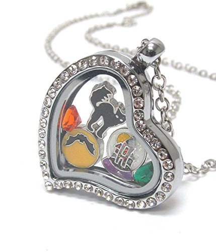 Crystal Open Heart Charm - 5