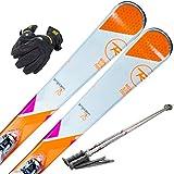 ROSSIGNOL (ロシニョール) スキー4点セット 16-17 TEMPTATION 75 XPRESS W10 ビンディング/ストック/グローブ付き