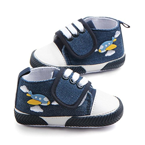 IGEMY Hübsche Jungen Ente Cartoon Print Lace-up Anti Rutsch Schuhe (11, Dunkelblau) Blau