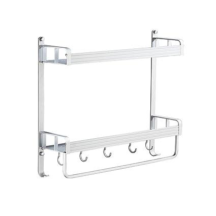 Amazon Com Gaoyang Bathroom Shelf Wall Mount Free Punching Aluminum