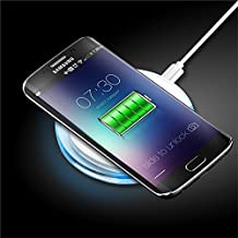 Ultra-Slim Wireless Charger, Universal Buying(TM) Acrylic Wireless Phone Charger Inductive Charging Pad Station Compatible with All Qi-Enabled Smart Devices like iPhone, Samsung, Nokia, LG, Google,etc (White)