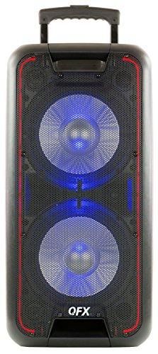 QFX PBX-100 Dual 10″ Portable Party Speaker, Black