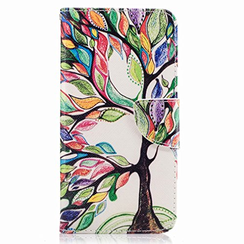 P10 Plus Yiizy Huawei Case, Color Design Trees Flap Wallet Flip Cover Housing Case Premium Pu Leather Cover Shell Bumper Skin Protective Shell Case Stand Slim Slot Style Cards