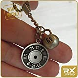 Workout-Key-Chain-WOD-Fran-21-15-9-Weight-Plate-and-Kettlebell-Fine-Motivation-Gift-for-CF-Athletes-Exercise-Bronze-Keychain-Fitness-Accessories-Fit-Coach-Present