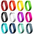 Dunfire Replacement Wristbands/Bands with FREE Clasps for Fitbit Flex Bracelet Activity Plus Sleep Tracker by Dunfire