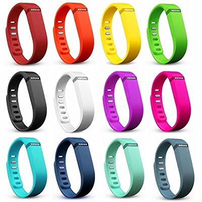 2016 Fashion Wristbands Pack, Dunfire Replacement Bands with FREE Clasps for Fitbit Flex Bracelet Activity Plus Sleep Tracker