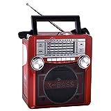 QFX Karaoke Multimedia Speaker withAM/ FM Radio- Red consumer electronics Electronics
