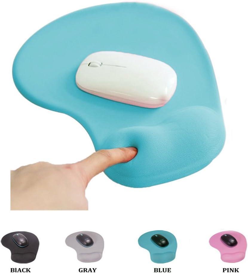SheShy Alfombrilla de Ratón, Alfombrilla ergonómica para ratón, Alivia el Cansancio de muñeca, Diseño Ergonómico, Impermeable, Antideslizante, Antipolvo (Azul)