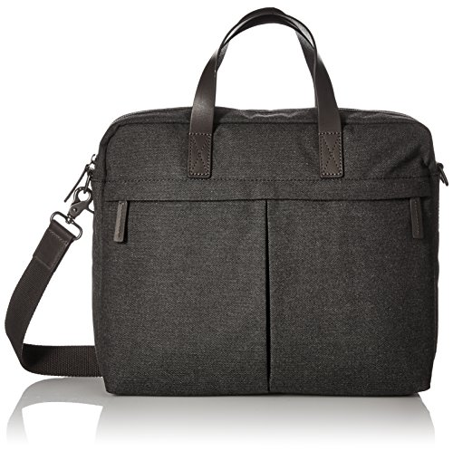 Fossil Men's Buckner Top Zip Workbag Black Fossil Top