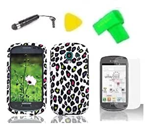 Hard Case Phone Cover + Extreme Band + Stylus Pen + Lcd Screen Protector + Yellow Pry Tool For Samsung Galaxy Exhibit T599N Sgh-T599 (2013)