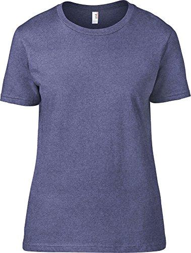 Yunque para mujer semi-fitted silueta con costuras laterales verano Fashion Basic Tee Heather Azul