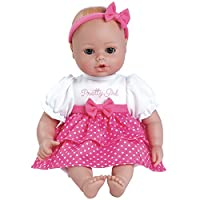 """Adora PlayTime Baby Pretty Girl Vinyl 13"""" Girl Weighted Washable Cuddly Snuggle Soft Toy Play Doll Gift Set with Open/Close Eyes for Children 1+ Includes Bottle"""