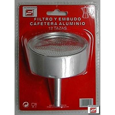 Éditeur ERSA Filtre pour entonnoir Cafetière, Aluminium, gris, 17,6x 12,7x 6,8cm