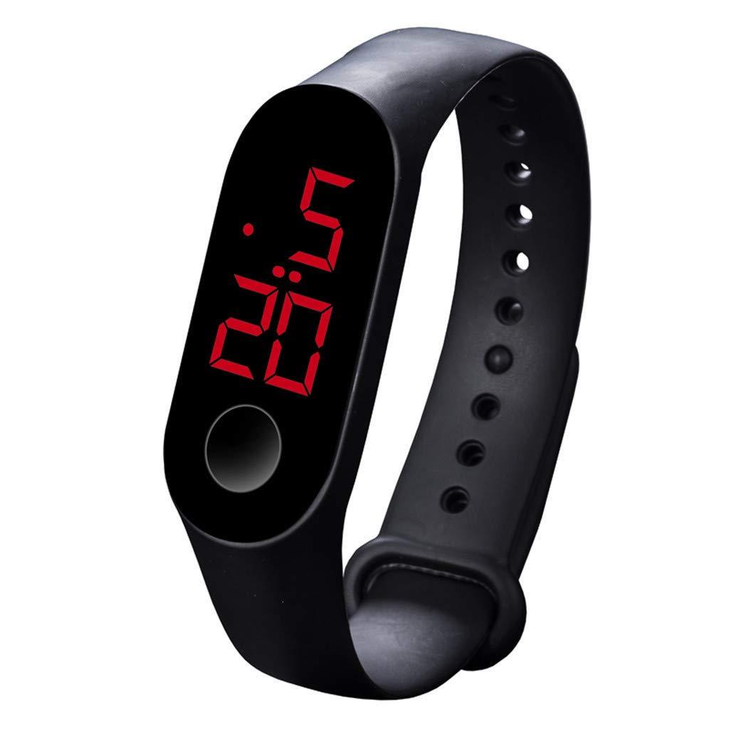 Sport Watch, LED Digital Watch Outdoor 30M Waterproof Rubber Bands Wristwatch for Men Women Teens Students