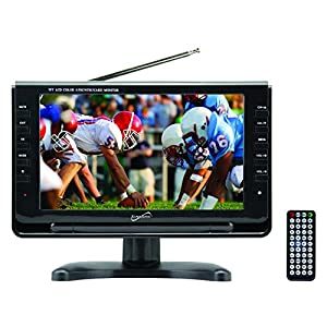 SuperSonic Portable Widescreen LCD Display with Digital TV Tuner, USB/SD Inputs and AC/DC Compatible for RVs, 9-Inch