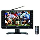SuperSonic Portable Widescreen LCD Display with Digital TV Tuner, USB/SD Inputs and AC/DC